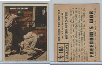 1950 Topps, Freedoms War, #106 Wiping Out Snipers