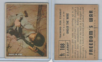 1950 Topps, Freedoms War, #108 Under The Wire