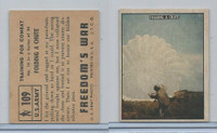 1950 Topps, Freedoms War, #109 Folding A Chute