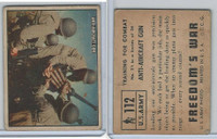 1950 Topps, Freedoms War, #112 Anti-Aircraft Gun