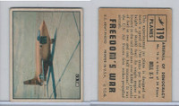 1950 Topps, Freedoms War, #119 Bell X-1 Airplane