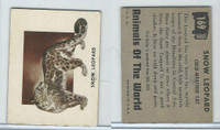 1951 Topps, Animals of the World, #169 Snow Leopard