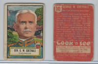1952 Topps, Look 'N See, #10 Gen. G.W. Goethals, Panama Canal