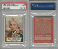 1952 Topps, Look 'N See, #109 Admiral Horatio Nelson, PSA 7 NM