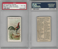 N20 Allen & Ginter, Prize & Game Chickens, 1892, Black Breast Cock, PSA 4 VGEX