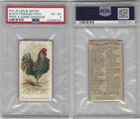 N20 Allen & Ginter, Prize & Game Chickens, 1892, Black Frizzled Fowl, PSA 4 VGEX