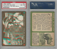 1953 Topps, Tarzan & The She Devil, #11 Looking at the Slaves, PSA 6 EXMT