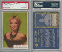 1953 Topps, Who-Z-At Star?, #19 Audrey Totter, PSA 5 EX