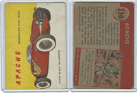 1954 Topps, World on Wheels, #110 Apache American Hot Rod