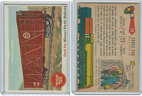 1955 Topps, Rails & Sails, #11 Stock Car, Missouri Pacific Railroad