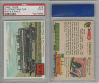 1955 Topps, Rails & Sails, #13 3-Dome Tank Car, PSA 5 EX