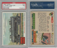 1955 Topps, Rails & Sails, #13 3-Dome Tank Car, PSA 7 NM
