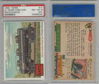 1955 Topps, Rails & Sails, #13 3-Dome Tank Car, PSA 8 OC NMMT