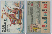 1955 Topps, Rails & Sails, #131 War Galley, Venetian 12th Century