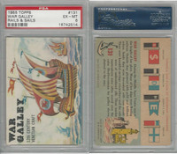 1955 Topps, Rails & Sails, #131 War Galley, PSA 6 EXMT