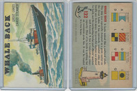 1955 Topps, Rails & Sails, #132 Whale Back, Great Lakes Steamer