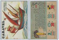 1955 Topps, Rails & Sails, #134 Caravel, 16th Century