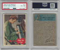 1956 Bubbles Inc, Elvis Presley, #12 Pickin' Out A Tune, PSA 6 EXMT