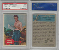 1956 Bubbles Inc, Elvis Presley, #17 Studying The Script, PSA 7 NM