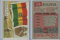 1956 Topps, Flags of the World, #10 Bolivia