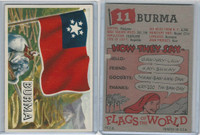 1956 Topps, Flags of the World, #11 Burma