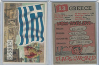 1956 Topps, Flags of the World, #13 Greece