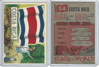 1956 Topps, Flags of the World, #14 Costa Rica