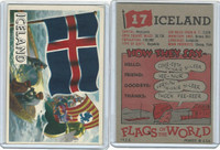 1956 Topps, Flags of the World, #17 Iceland