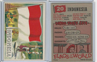 1956 Topps, Flags of the World, #20 Indonesia