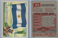 1956 Topps, Flags of the World, #21 Argentina
