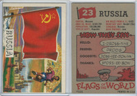 1956 Topps, Flags of the World, #23 Russia