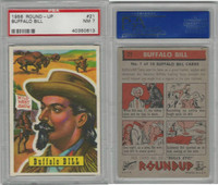 1956 Topps, RoundUp, #21 Buffalo Bill, PSA 7 NM
