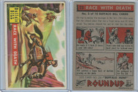 1956 Topps, RoundUp, #23 Race With Death, Buffalo Bill Cody