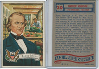 1956 Topps, U.S. Presidents, #20 Andrew Johnson