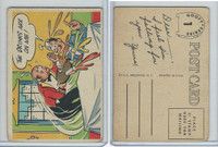 1957 Topps, Goofy Post Cards, #1 The Drinks Are On Me!