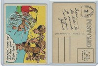 1957 Topps, Goofy Post Cards, #2 Herbert, I Hope You Did Your Good Turn