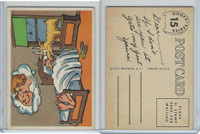 1957 Topps, Goofy Post Cards, #15 Dreaming