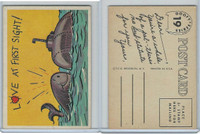 1957 Topps, Goofy Post Cards, #19 Love At First Sight