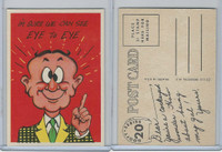 1957 Topps, Goofy Post Cards, #20 I'm Sure We Can See Eye To Eye