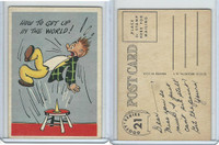 1957 Topps, Goofy Post Cards, #21 How To Get Up In The World!