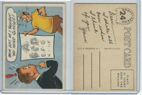 1957 Topps, Goofy Post Cards, #24 Hm-M Just As I Thought You Need Glasses!