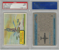 1957 Topps, Planes, Blue Back, #42 Aerocycle, PSA 7 NM