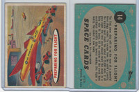 1957 Topps, Space Cards, #14 Preparing for Flight