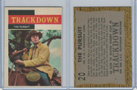 1958 Topps, TV Westerns, #20 Trackdown, The Pursuit