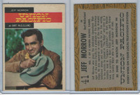 1958 Topps, TV Westerns, #41 Union Pacific, Jeff Morrow As Bart McClelland