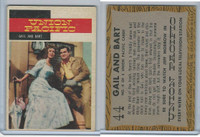 1958 Topps, TV Westerns, #44 Union Pacific, Gail and Bart