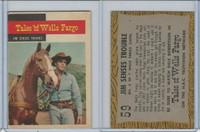 1958 Topps, TV Westerns, #59 Tales of Wells Fargo, Jim Senses Trouble