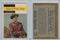 1958 Topps, TV Westerns, #60 Tales of Wells Fargo, Rugged Rider