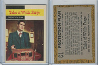 1958 Topps, TV Westerns, #61 Tales of Wells Fargo, Protection Plan