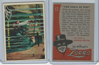 1958 Topps, Zorro, #17 You Shall Be Free